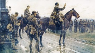 Video: Reflection on the WW1 painting the 'Last General Absolution of the Munsters' by  Fortunino Matania