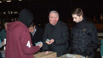 Archbishop of Birmingham Joins Volunteers at City Centre Soup Kitchen