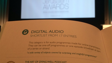 The Art of Dying Well wins Digital Audio prize at the Jerusalem Awards