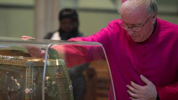 Bishop Philip Egan Celebrates Mass in the presence of Blessed Louis and Zelie Martin