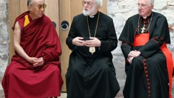 Cardinal and other religious leaders meet Dalai Lama