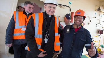 Papal Nuncio to UK visits Tilbury Docks