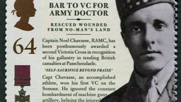 London 1908 Olympian Noel Chavasse VC and Bar on Royal Mail Stamp
