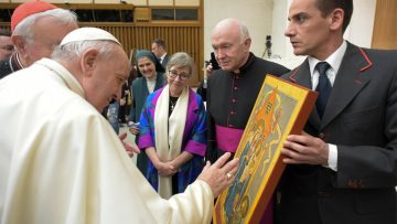 Pope Blesses Painting of Our Lady of Walsingham in Rome for Re-Dedication of England in March