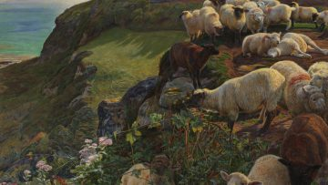 Our English Coasts, 1852 ('Strayed Sheep') 1852 by William Holman Hunt 1827-1910