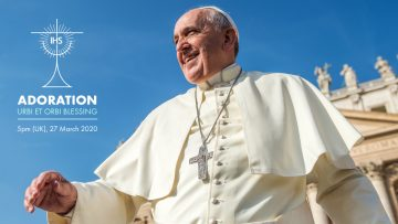 Adoration, prayer and a blessing from Pope Francis