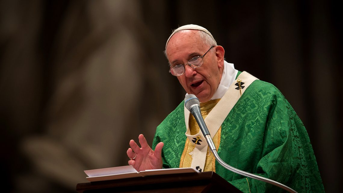 Pope Francis delivers homily