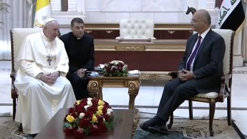 "Pope to Iraq's President: ""I come as a pilgrim of peace in the name of Christ"""