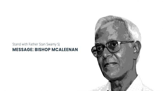 Bishop McAleenan: Release Fr Stan Swamy Immediately