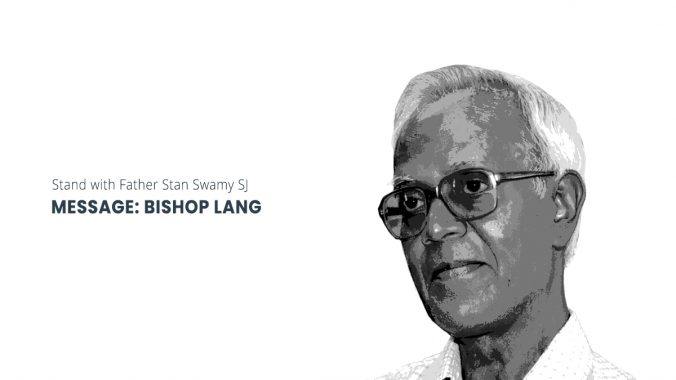 Bishop Lang assures Fr Stan Swamy he is not forgotten